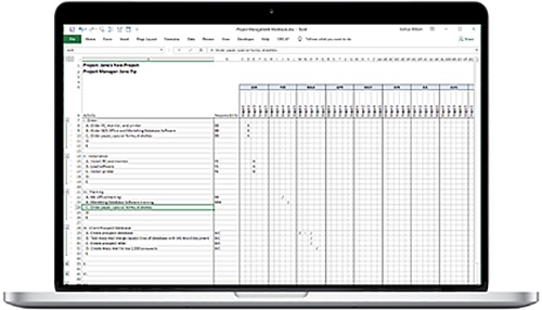 17 ABA Project Grid in Excel With Tasks
